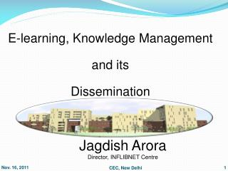 Jagdish Arora Director, INFLIBNET Centre