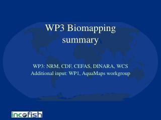 WP3 Biomapping  summary