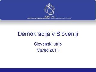 Demokracija v Sloveniji