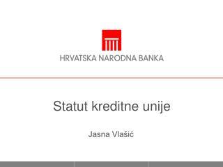 Statut kreditne unije