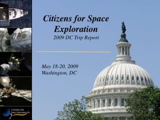Citizens for Space Exploration 2009 DC Trip Report