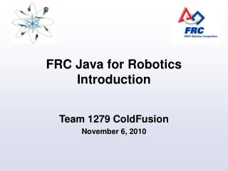 FRC Java for Robotics Introduction