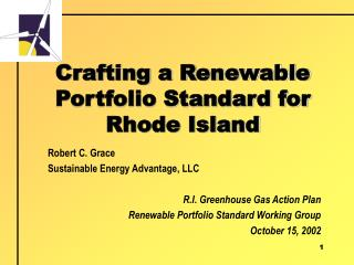 Crafting a Renewable Portfolio Standard for Rhode Island