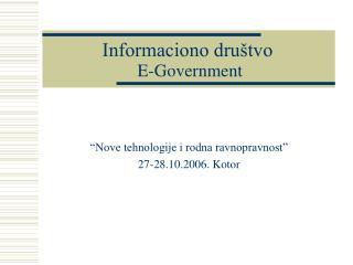 Informaciono društvo E-Government