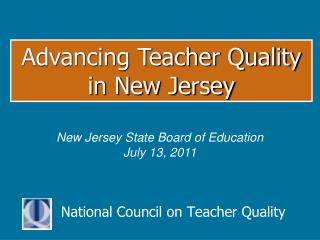 National Council on Teacher Quality