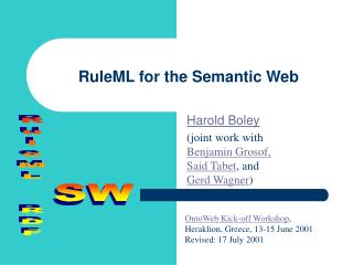 RuleML for the Semantic Web