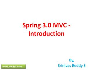 Spring 3.0 MVC - Introduction