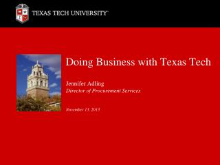 Doing Business with Texas Tech
