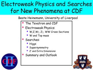 Electroweak Physics and Searches for New Phenomena at CDF