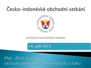 Česko-indonéské obchodní setkání