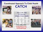 Coordinated Approach To Child Health CATCH
