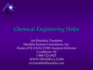 Chemical Engineering Helps