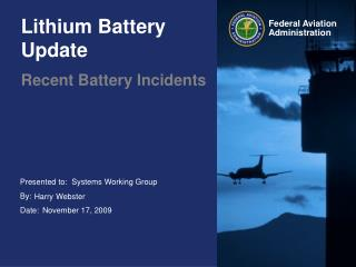 Lithium Battery Update