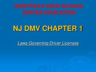 NJ DMV CHAPTER 1