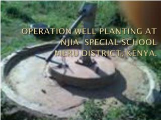 Njia Special School, Meru District, Kenya