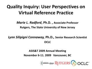 Quality Inquiry: User Perspectives on Virtual Reference Practice