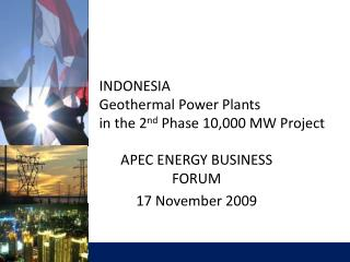 INDONESIA Geothermal Power Plants  in the 2nd Phase 10,000 MW Project