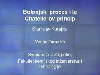 Bolonjski proces i le Chatelierov princip