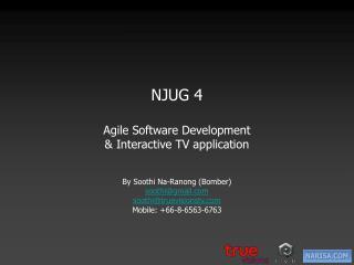 NJUG 4 Agile Software Development & Interactive TV application