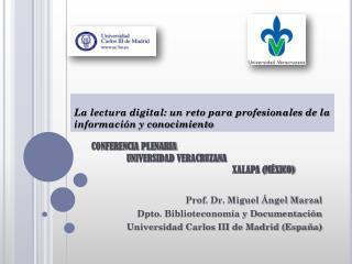CONFERENCIA PLENARIA UNIVERSIDAD VERACRUZANA XALAPA (MÉXICO)