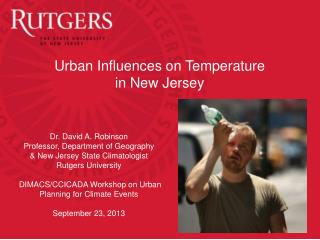 Urban Influences on Temperature  in New Jersey