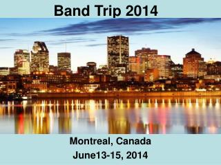 Band Trip 2014
