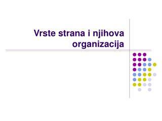 Vrste strana i njihova organizacija