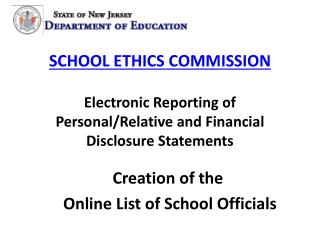 Creation of the  Online List of School Officials