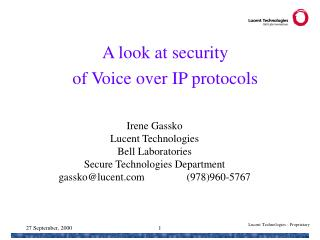 A look at security  of Voice over IP protocols