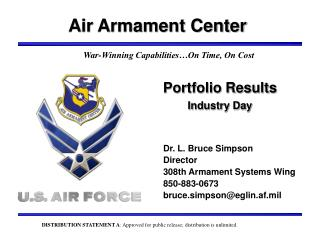 Portfolio Results Industry Day