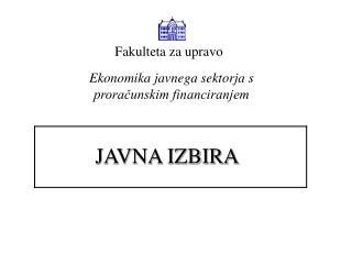 JAVNA IZBIRA