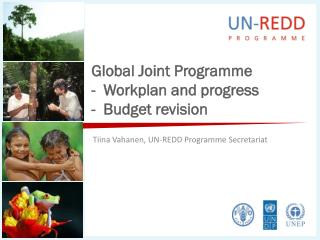 Global Joint Programme -  Workplan and progress -  Budget revision