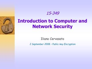 15-349 Introduction to Computer and Network Security