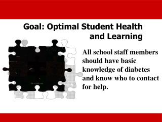Goal: Optimal Student Health