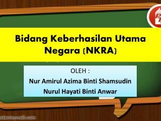 Bidang Keberhasilan Utama Negara (NKRA)
