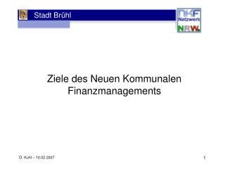 Ziele des Neuen Kommunalen Finanzmanagements