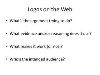 Logos on the Web