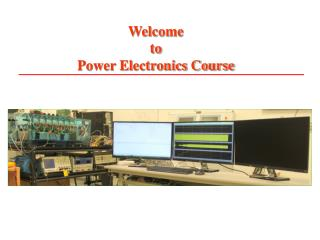 Welcome  to  Power Electronics Course