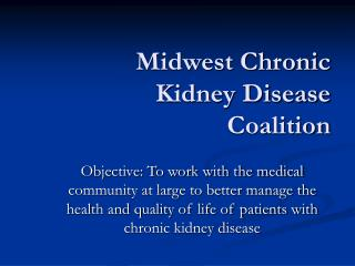 Midwest Chronic Kidney Disease Coalition