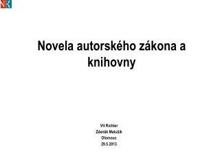 Novela autorského zákona a knihovny
