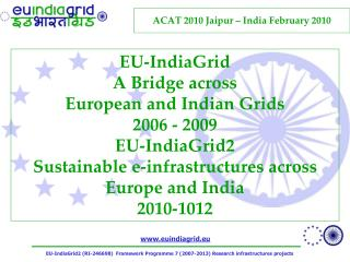 ACAT 2010  Jaipur  – India February 2010