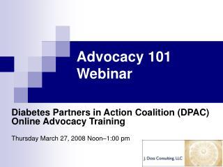 Advocacy 101 Webinar