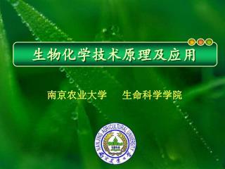 南京农业大学   生命科学学院