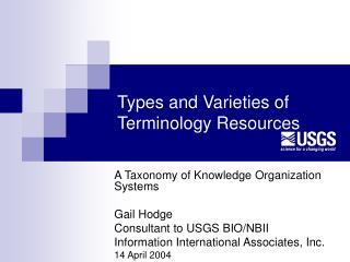 Types and Varieties of Terminology Resources