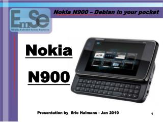 Nokia N900 � Debian in your pocket