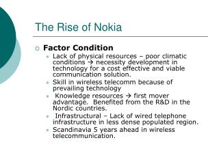 The Rise of Nokia