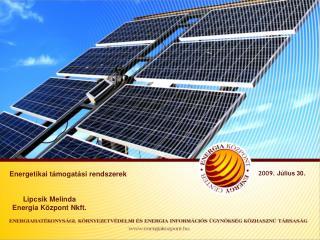 Energetikai támogatási rendszerek