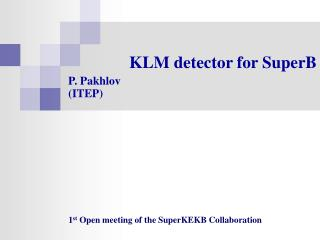 KLM detector for SuperB