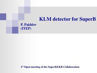 KLM detector for SuperB