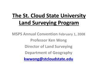 The St. Cloud State University Land Surveying Program